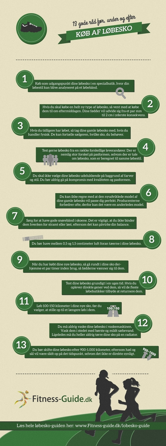 13 gode råd ved køb af løbesko